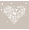 Wedding heart vector image vector image