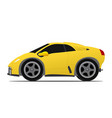 yellow race car vector image vector image