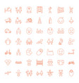 49 child icons vector image vector image