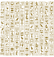 Ancient Egyptian Hieroglyphs Seamless vector image vector image