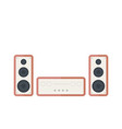 audio system on white in retro style vector image vector image