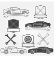Auto service or repair labels vector image