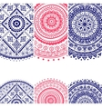 Beautiful floral set of banners vector image vector image