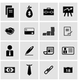 black business icon set vector image