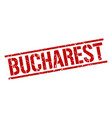 bucharest red square stamp vector image vector image