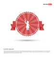 bulb concept creative idea icon - red ribbon vector image vector image