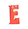 cartoon character monster letter e vector image vector image