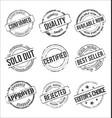 collection grungy rubber stamps vintage design vector image