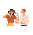 couple arguing and conflicting aggressive vector image vector image
