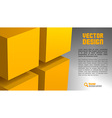 cube layout vector image