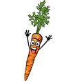 cute carrot vegetable cartoon vector image
