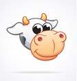 cute cow cartoon character head vector image
