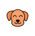 cute face dog animal cartoon icon vector image vector image