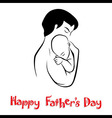 Dad and child in lovely hug vector image