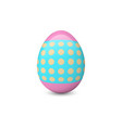 decorated easter egg isolated on the white vector image vector image