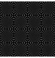 Design seamless monochrome dark rotation pattern vector image