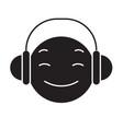 dj emoji black concept icon dj emoji flat vector image