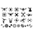 drones and quadcopters vector image vector image