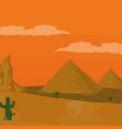 egyptian pyramids cartoon vector image