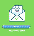envelope emoticon flat email vector image vector image