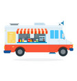 fast food car flat isolated vector image