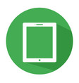 flat tablet icon tablet icon tablet icon vector image vector image