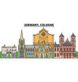 germany cologne city skyline architecture vector image vector image