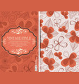 greeting card invitation with floral background vector image