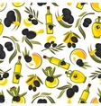 Healthful olive oil seamless pattern vector image vector image