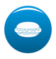 hot dog icon blue vector image
