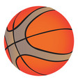 isolated basketball ball vector image