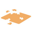 isometric 3d isolated puzzle at white background vector image