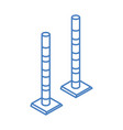 isometric repair construction road pole barrier vector image