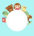kids banner design vector image vector image