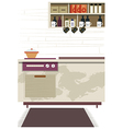 Kitchen Interior Background vector image vector image