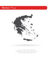 map greece isolated black on vector image vector image
