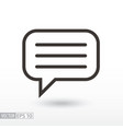 message flat icon sign message vector image