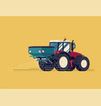 modern four wheel drive tractor with centrifuge