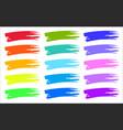 multicolored rainbow color brushstrokes prints set vector image
