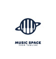 music space logo vector image vector image