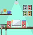 Musician Studio Workstation Flat Design vector image vector image