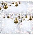 new year backgrounds with gold christmas balls vector image