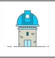 observatory telescope for space astronomy icon vector image
