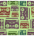 Old-school tape recorders seamless texture vector | Price: 1 Credit (USD $1)