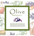 olive oil banner with copy space for text vector image