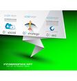 Origami flyer vector image vector image