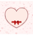 Paper heart with red ribbon and a bow vector image vector image
