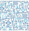 plumbing seamless pattern vector image vector image