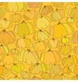 Pumpkin seamless pattern background vector image