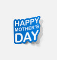 realistic paper sticker mothers day vector image vector image